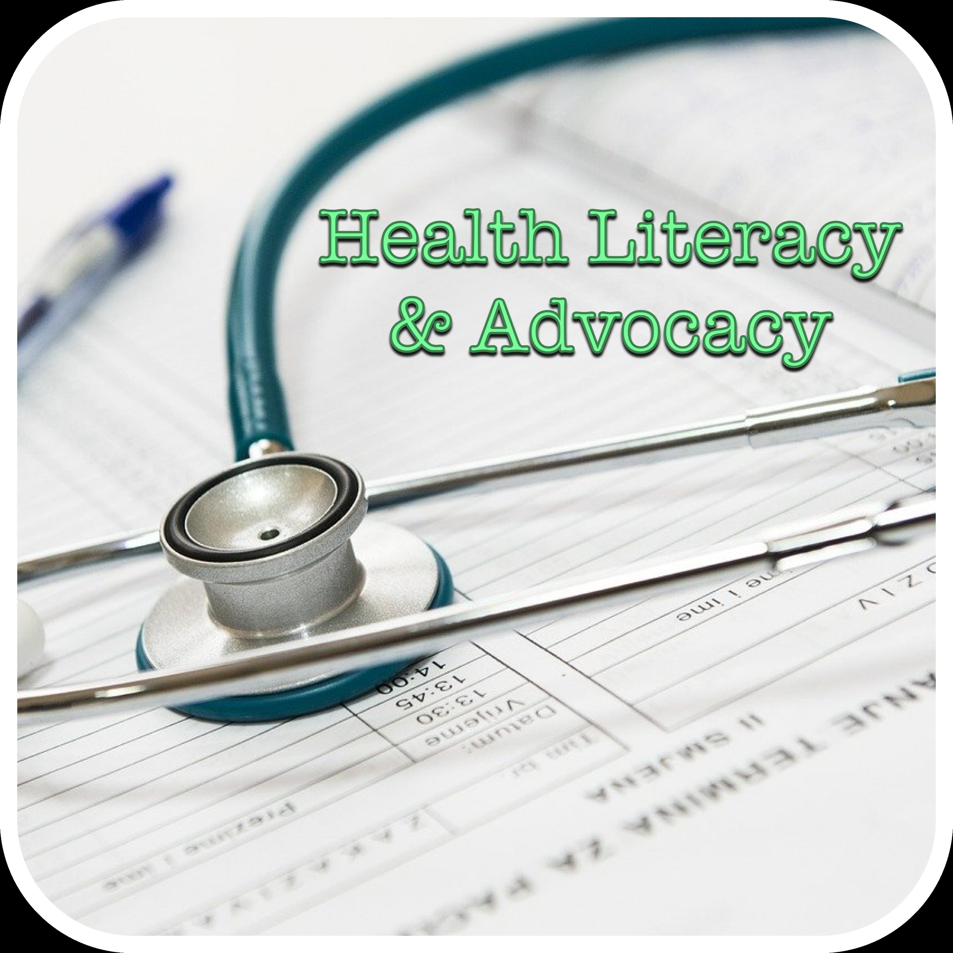 Health Literacy and Advocacy Logo (Stethoscope)