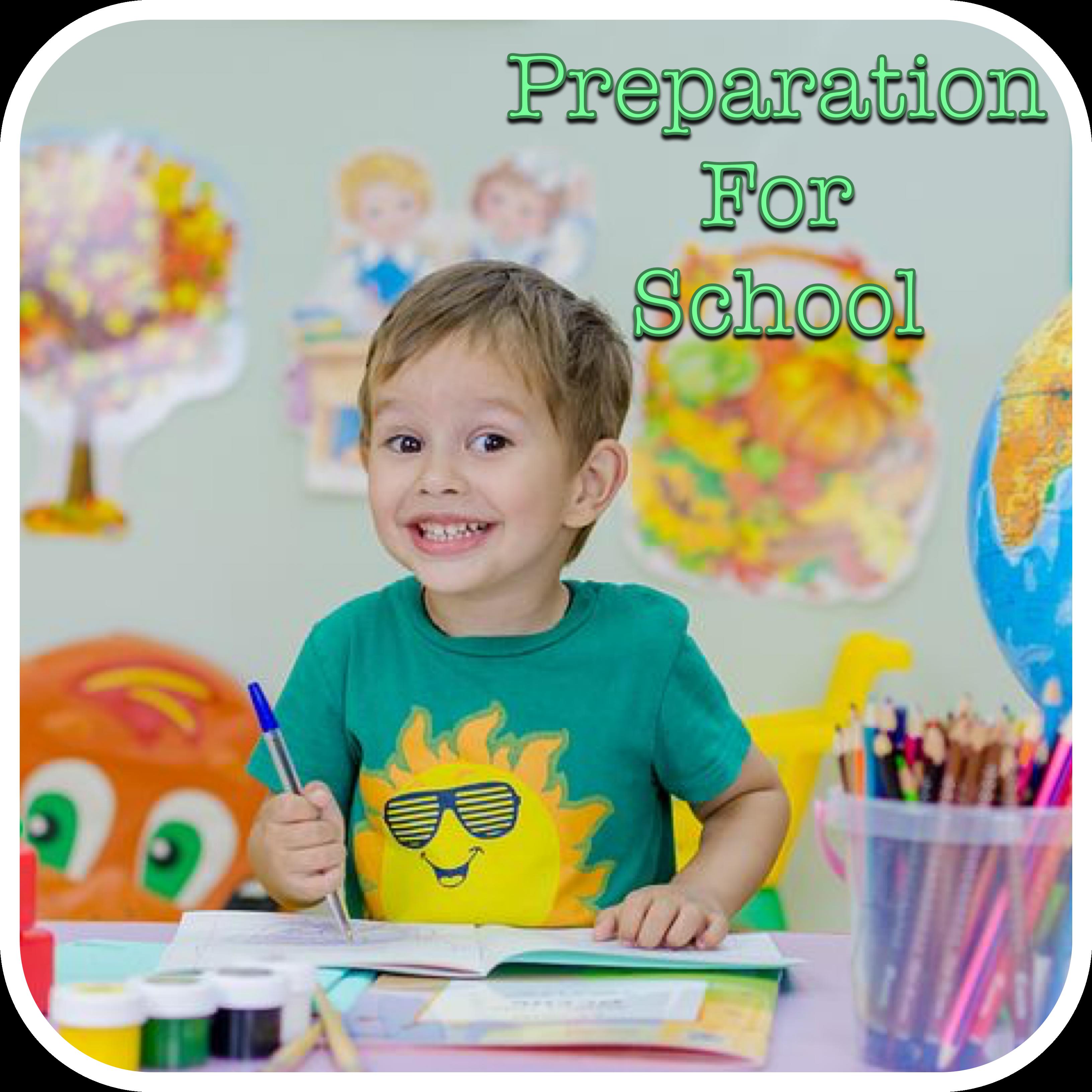 Preparation for School Logo (Young Boy Drawing)