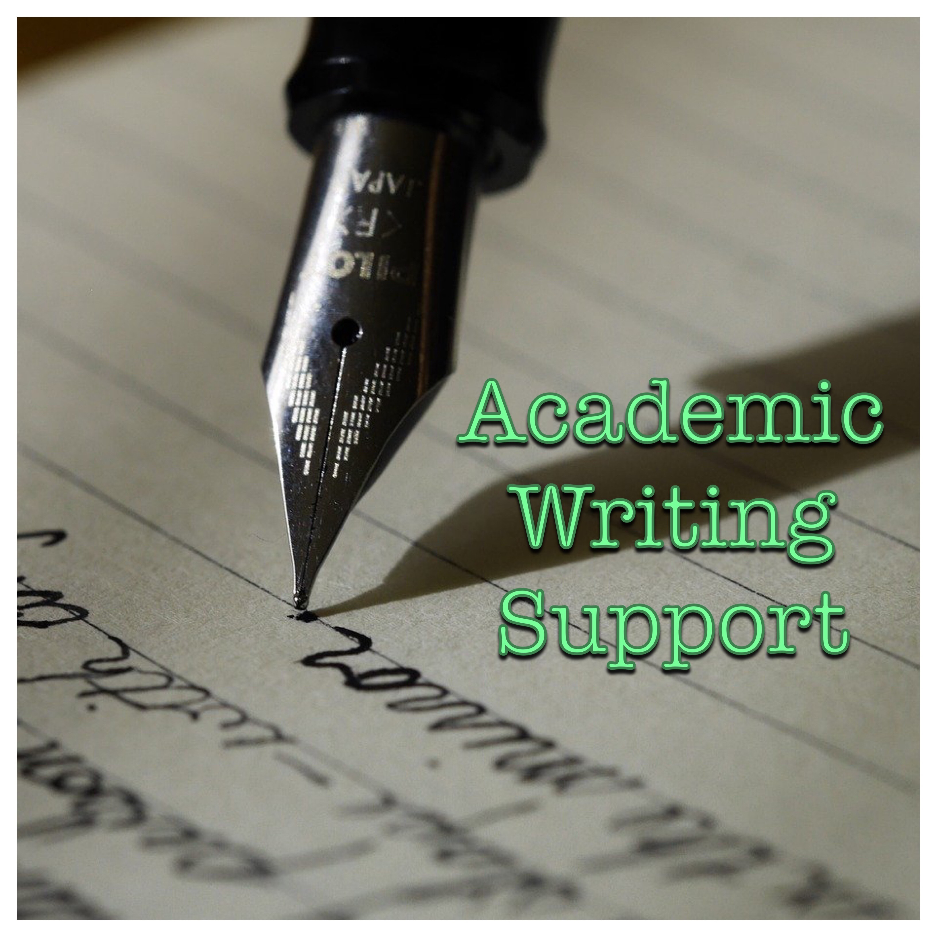 Academic Writing Support Logo (Fountain pen and paper)