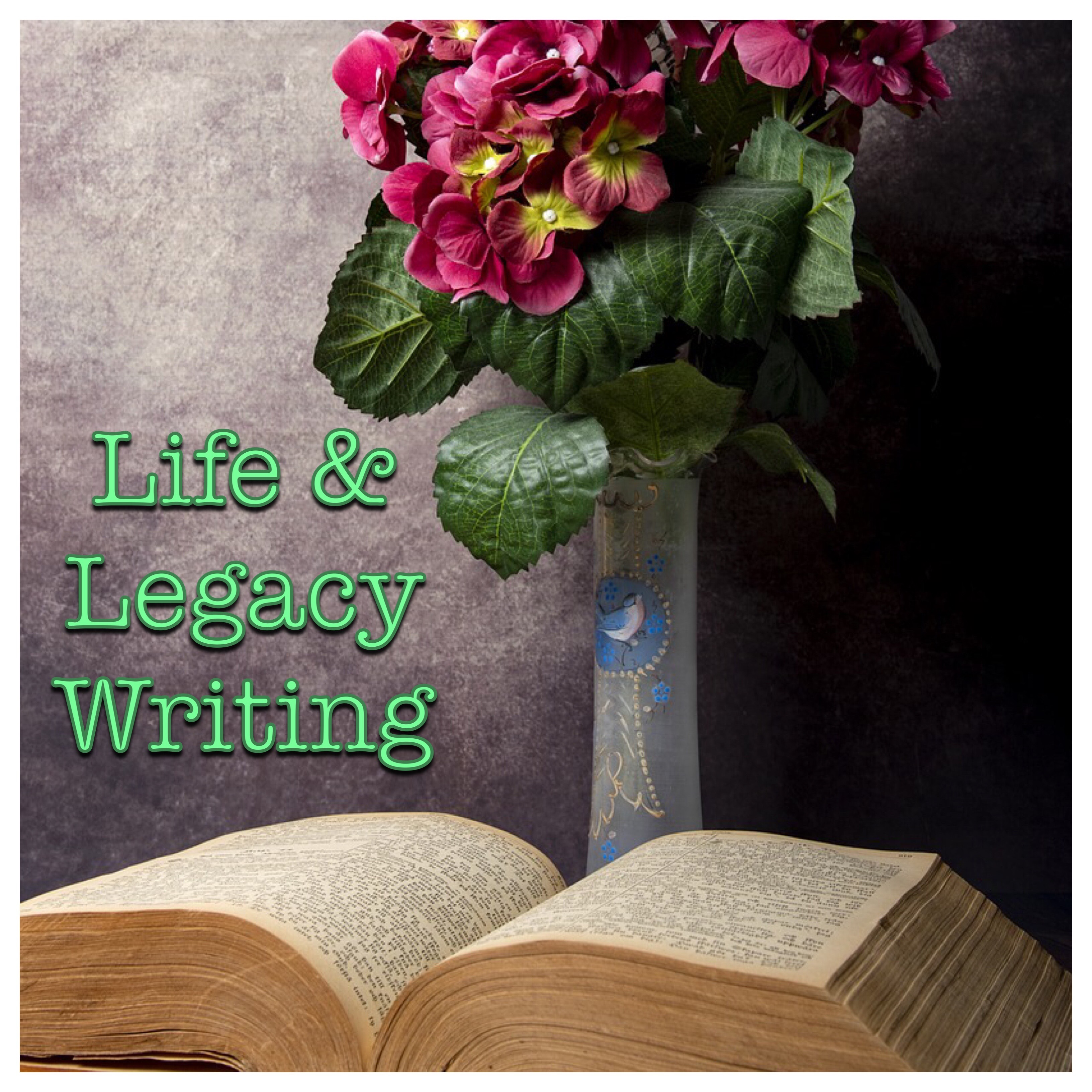 Life & Legacy Writing (Book and flowers)