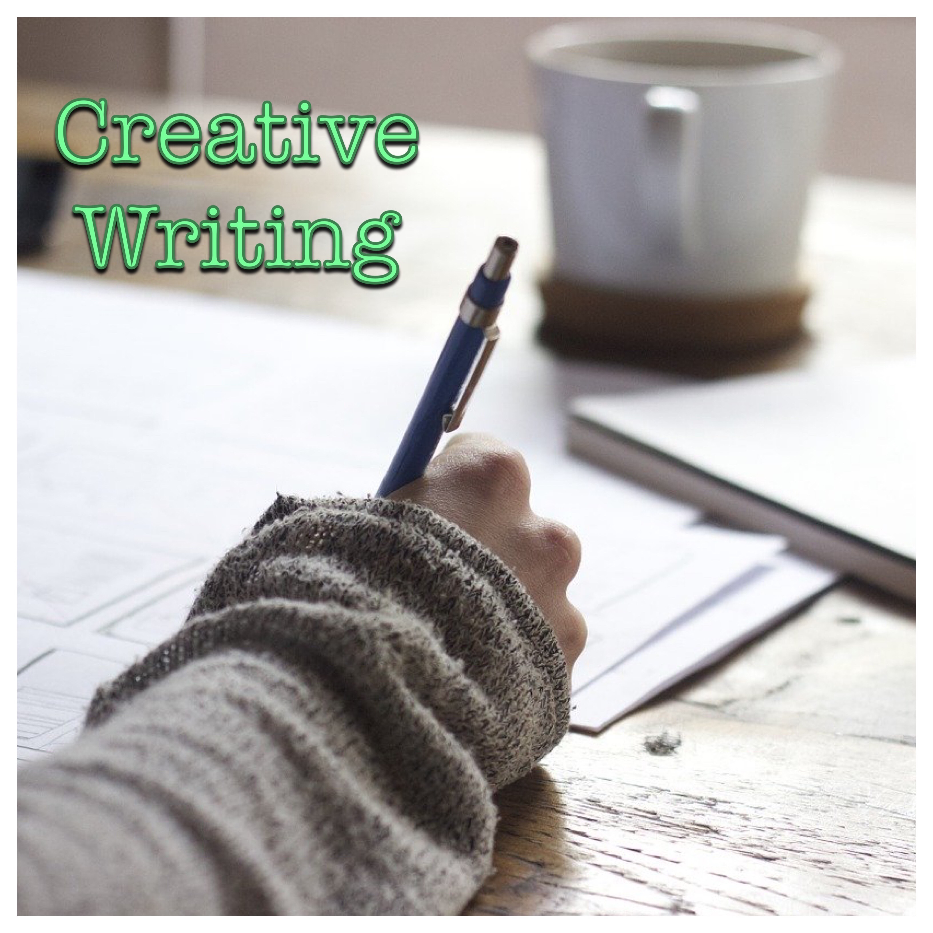 Creative Writing Logo (Hand with pen and notebook)