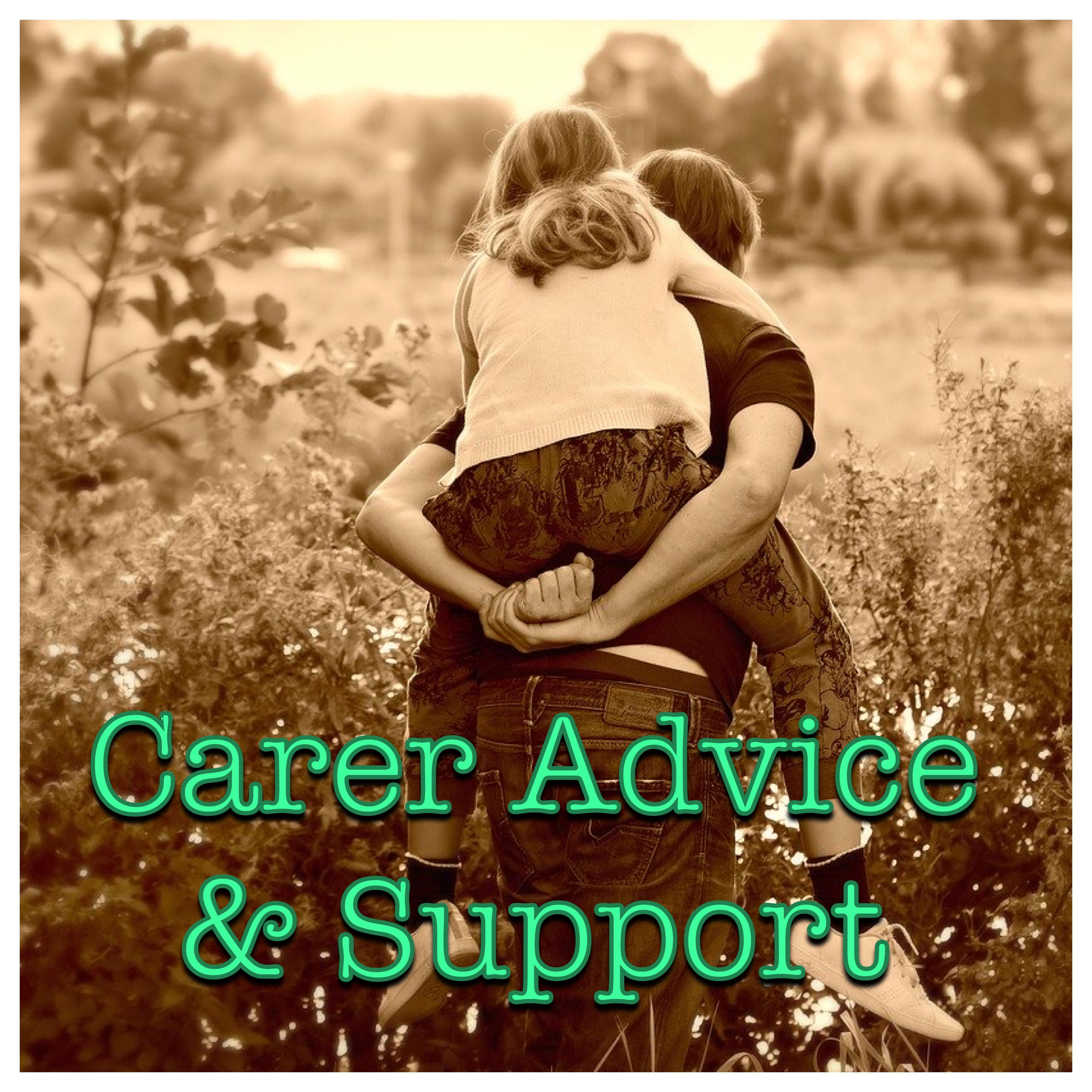 Carer Advice & Support Logo (someone giving a piggyback ride)