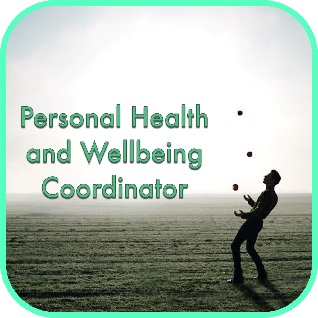 Personal Health and Wellbeing Coordinator logo  (person juggling)